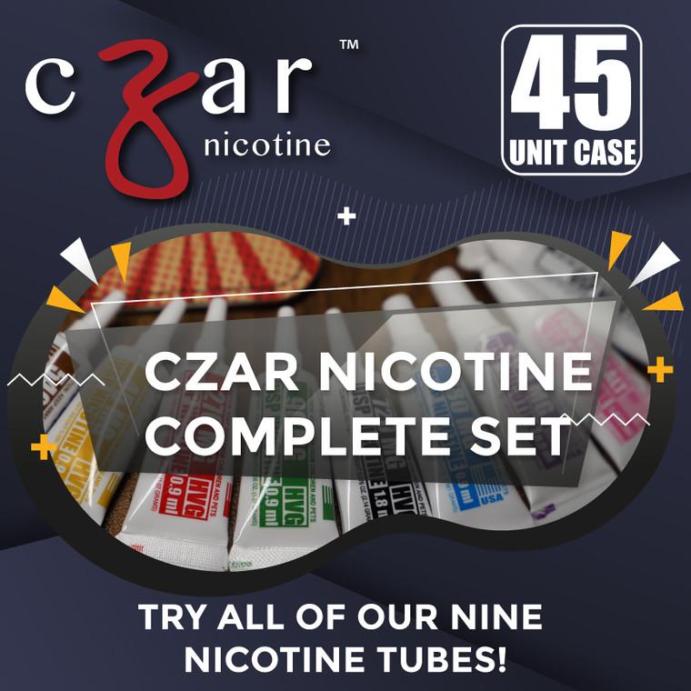 Czar Nicotine Tubes Complete set 20 unit case