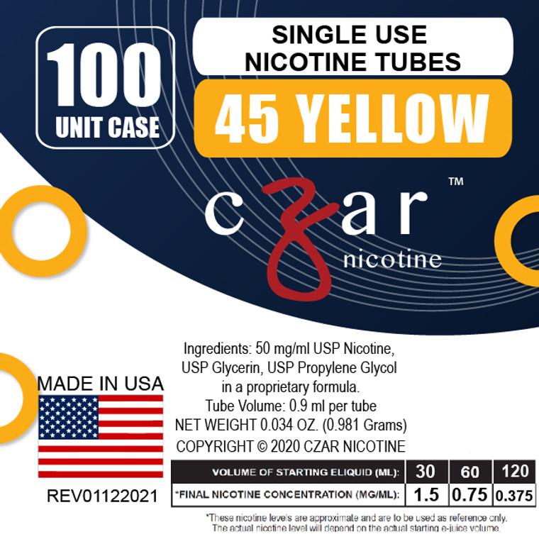 Yellow Czar Nicotine 100 units- 45mg/ml