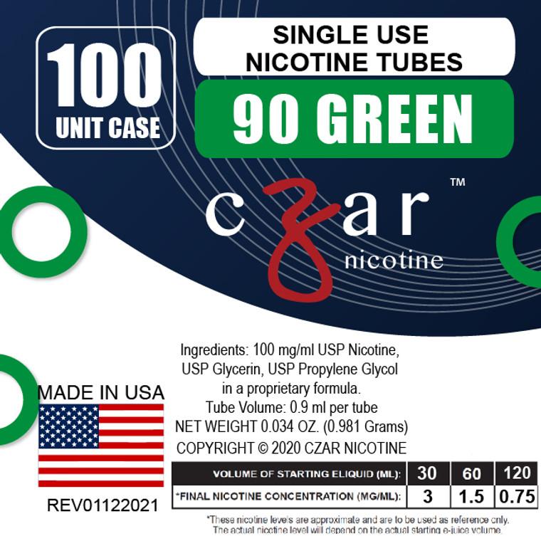 Green Czar Nicotine 100 Units - 90mg/ml