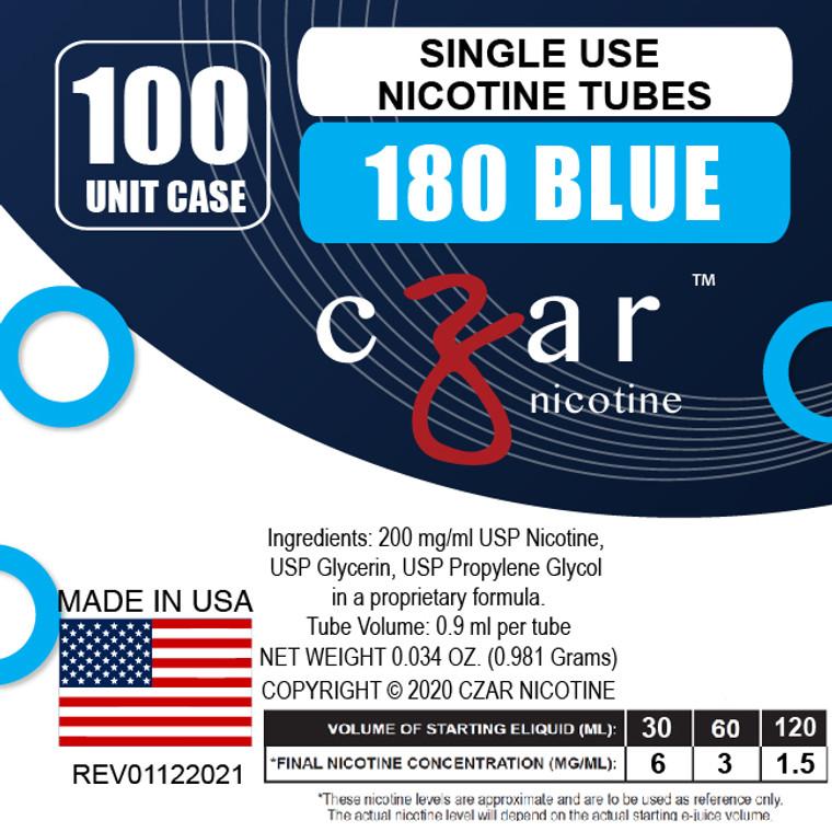 Blue Czar Nicotine 100 Units - 180mg/ml