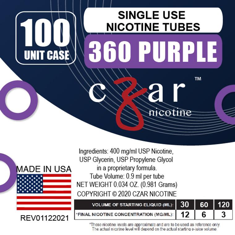 Purple Czar Nicotine 100 Units - 360mg/ml