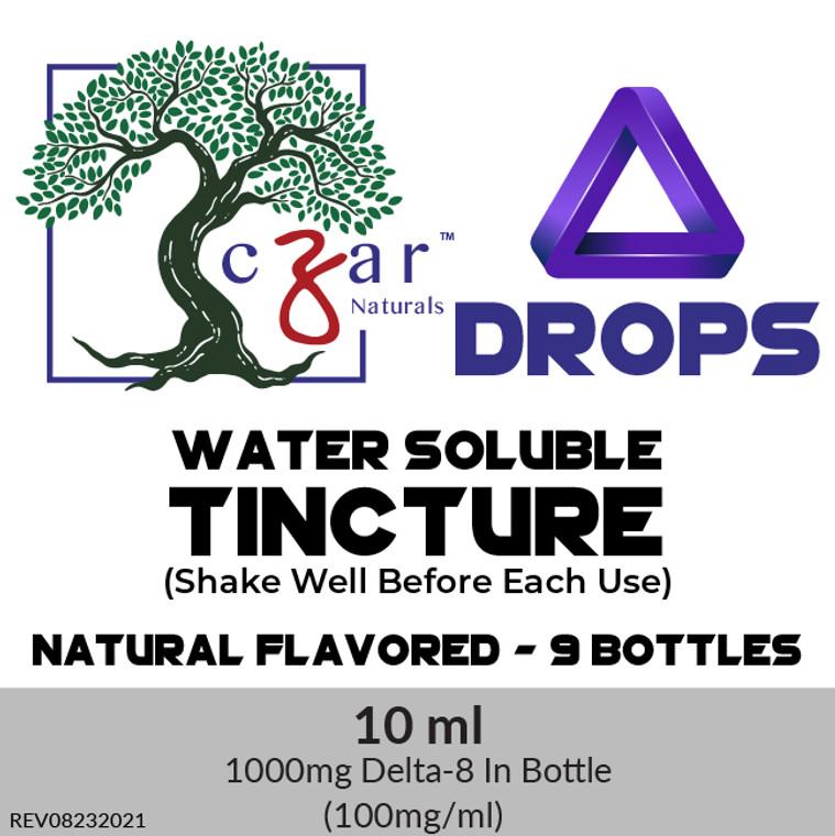 Case of 9 Czar Delta 8 water soluble 1000 mg, 10 ml x 100mg/ml.