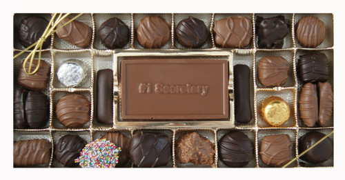 Milk & Dark Chocolate Assortment with #1 Secretary Card
