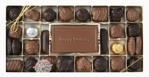 Milk & Dark Regular Assortment with Happy Birthday Card