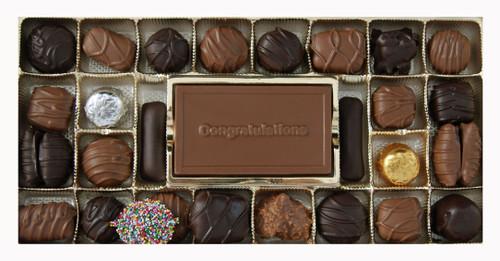 Milk & Dark Chocolate Regular Assortment with Congratulations Card