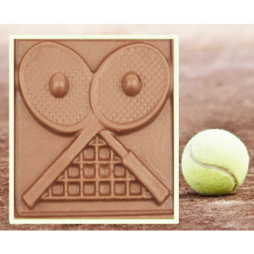 2 @ 4oz EA.Milk Chocolate Tennis Plaque