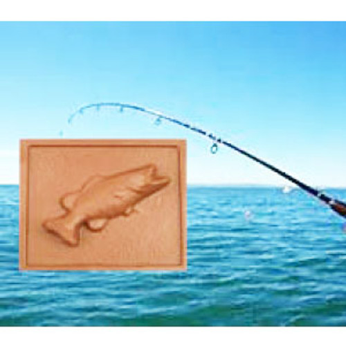 2 @ 4 OZ EA. Milk Chocolate Fishing Plaque