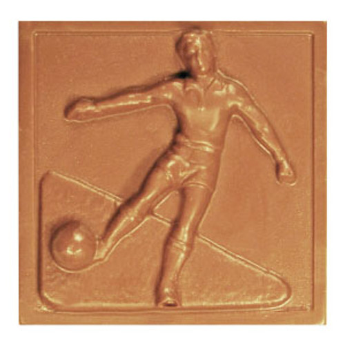 2 @ 4oz EA. Milk Chocolate Soccer Plaque