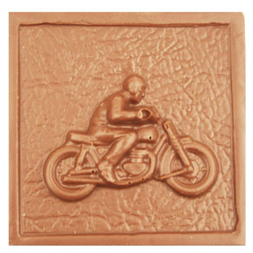 2 @ 4oz EA. Milk Chocolate Motorcycle Plaque