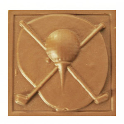 2 @ 4 OZ EA. Milk Chocolate Golf Plaque