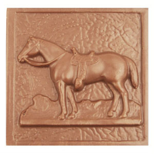 2 @ 4oz EA. Milk Chocolate Horse Plaque