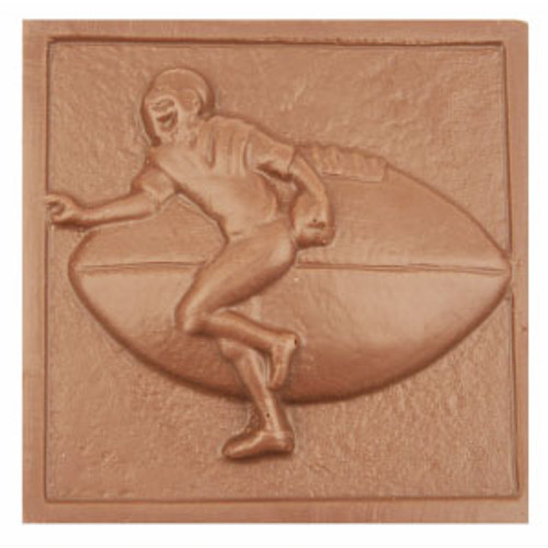 2 @ 4 OZ EA. Milk Chocolate Football Plaque