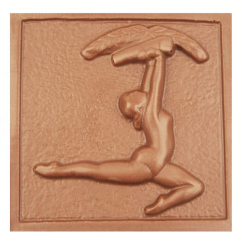 2 @ 4 OZ EA. Milk Chocolate Gymnastics Plaque