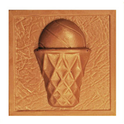 2 @ 4 OZ EA. Milk Chocolate Basketball Plaque
