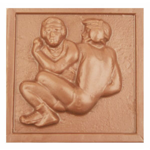 2 @ 4oz EA.Milk Chocolate Wrestling Plaque