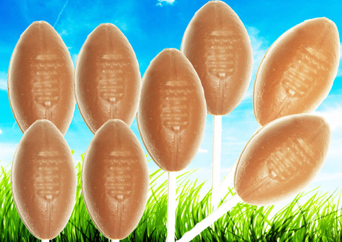 8 Pops @1oz Each (Solid Milk Chocolate Footballs on Stick)