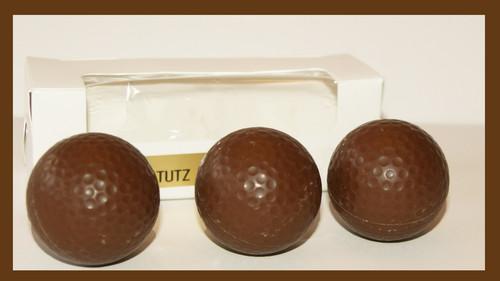 3-2.5oz Milk Chocolate Hollow Golf Balls (total of 9 balls)