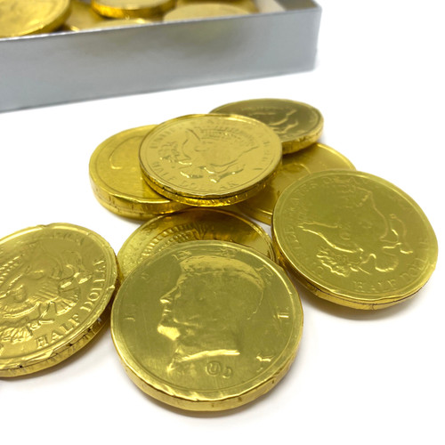 Foiled Milk Chocolate Gold Coins
