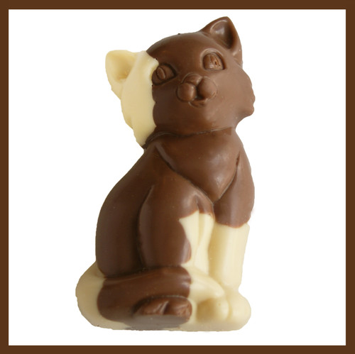 3-2.25oz EA. White & Milk Chocolate Spotted Cat