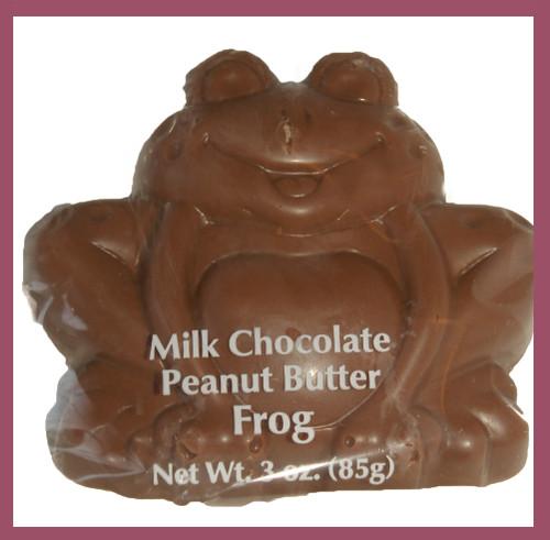3-3oz ea. Milk Chocolate Peanut Butter Frog