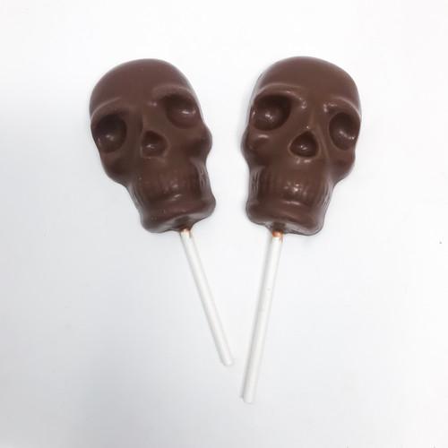 Solid Milk Chocolate Skull Pops (8 pops)