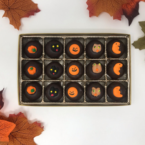 Dark Chocolate Decorated Halloween Mints