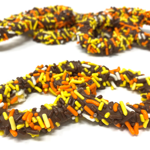 Gourmet Fall Pretzels with Jimmies (2 bags)