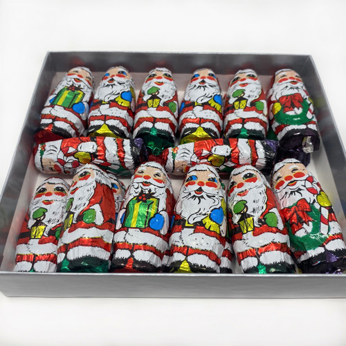Foiled Milk Chocolate Santas