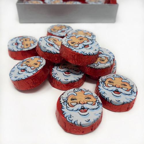 Foiled Milk Chocolate Crispy Santa Face