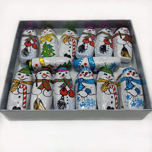 Foiled Milk Chocolate Snowmen