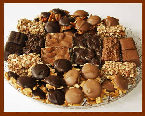 Stutz Candy 3 1/2lb Assorted Chocolates Party Dish