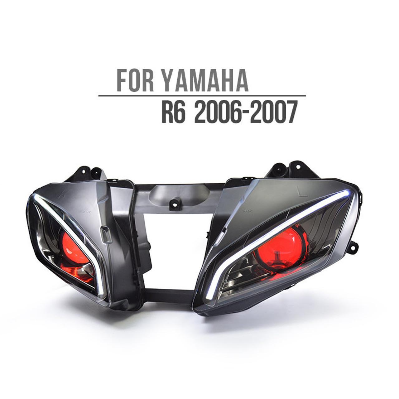 Fit for Yamaha R6 2006-2007 LED Optical Fiber Headlight Assembly V2