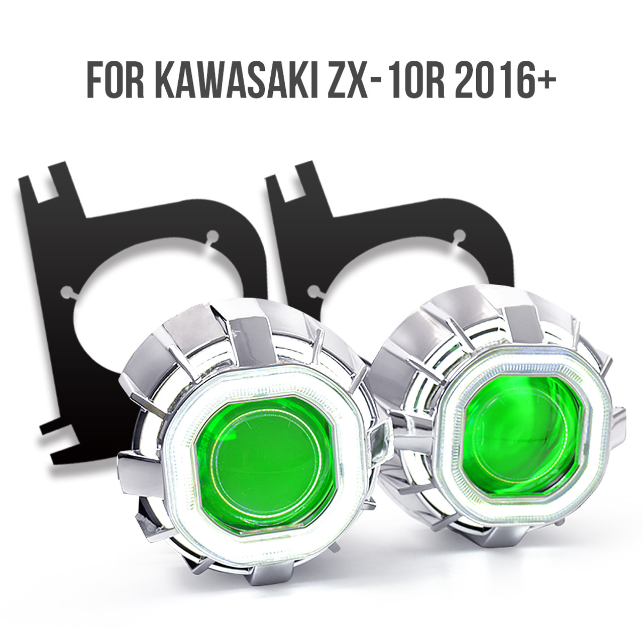 Fit for Kawasaki ZX-10R 2016 2017+ KT Tailor-Made HID Projector Kit HP37  V1-B(Square)