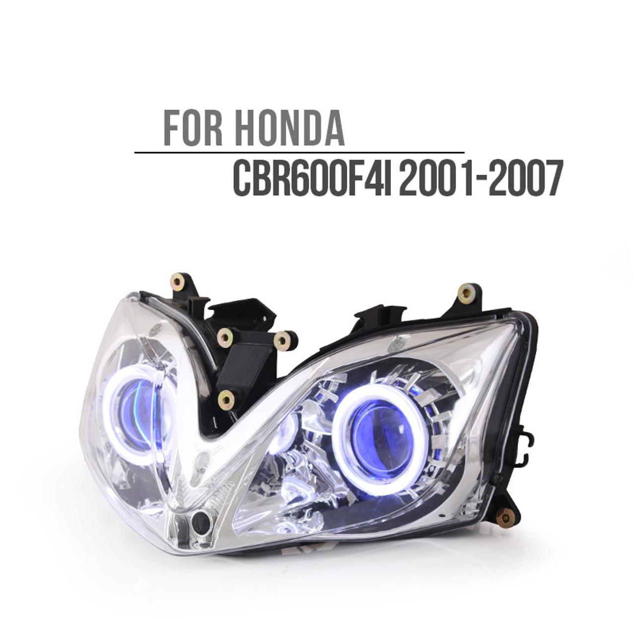 Fit For Honda Cbr600f4i 2001 2007 Led Angel Eye Headlight Assembly