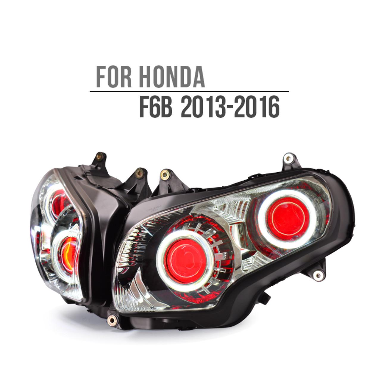 2016 Honda Goldwing >> Fit For Honda Goldwing F6b 2013 2016 Kt Led Angel Eye Headlight Assembly