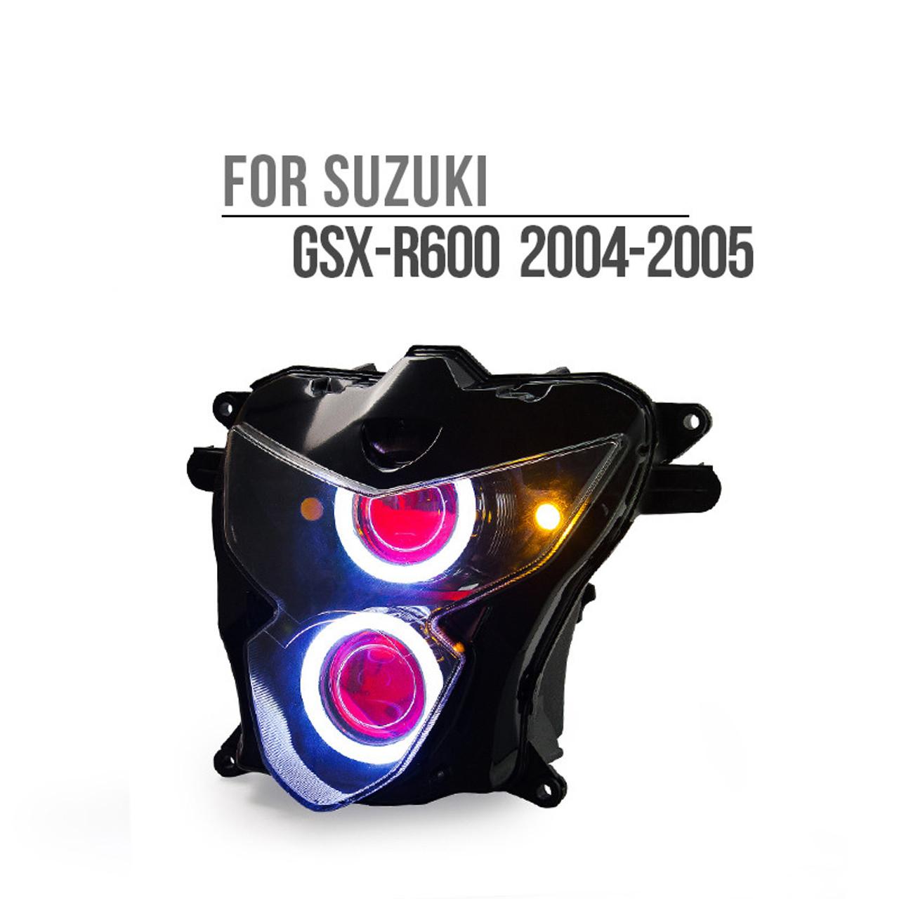 Fit for Suzuki GSXR600 2004-2005 LED Angel Eye Headlight embly  Suzuki Gsxr Wiring Harness on