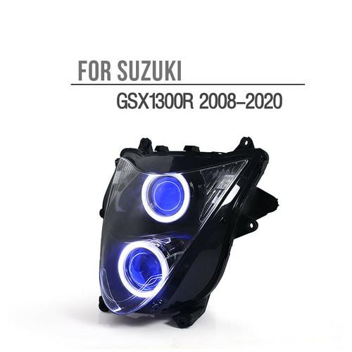 Fit for Suzuki Hayabusa GSX1300R 2008-2020 LED Angel Eye Headlight Assembly