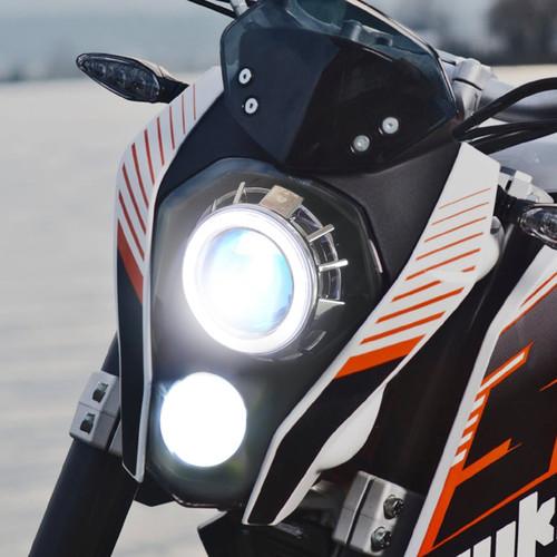 Fit for KTM Duke 200 2012-2016 LED Angel Eye Headlight Assembly