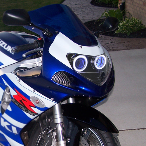 Fit for Suzuki GSXR750 2001-2003 LED Angel Eye Headlight Assembly