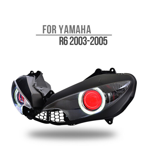 Fit for Yamaha R6 2003-2005 LED Angel Eye Headlight Assembly V1-B
