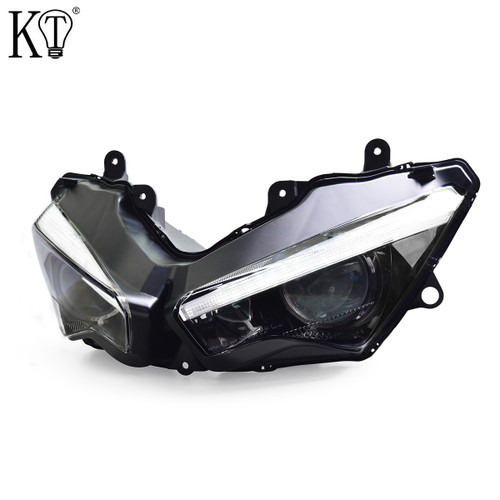 E-MARK Approved Fit for Kawasaki Ninja 250 2018+ Full LED Headlight Assembly