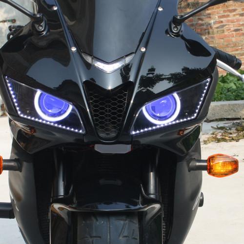 Fit For Honda Cbr600rr 2007 2012 Led Angel Eye Headlight Assembly V1