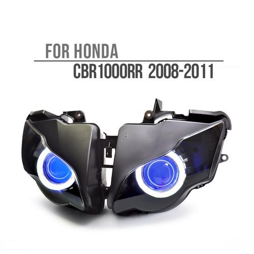 Fit for Honda CBR1000RR 2008-2011 LED Single Angel Eye Headlight Assembly V1