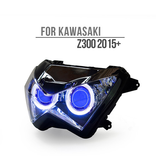 Fit for Kawasaki Z300 2015+ LED Angel Eye Headlight Assembly