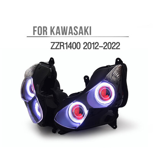 Fit for Kawasaki Ninja ZX14R/ZZR1400 2012-2022 LED Angel Eye Headlight Assembly
