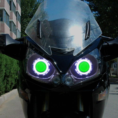Fit for Kawasaki Concours 1400GTR 2008-2017 LED Angel Eye Headlight Assembly