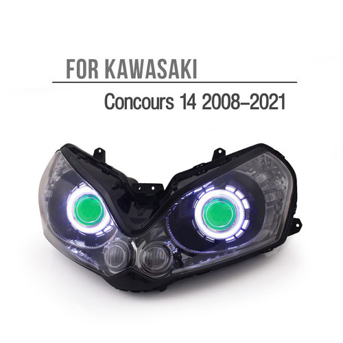 Fit for Kawasaki Concours 1400GTR 2008-2021 LED Angel Eye Headlight Assembly