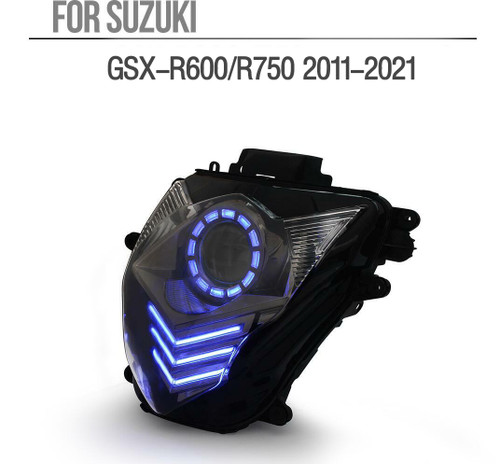 Fit for Suzuki GSXR750 2011-2021 LED Angel Eye Headlight Assembly