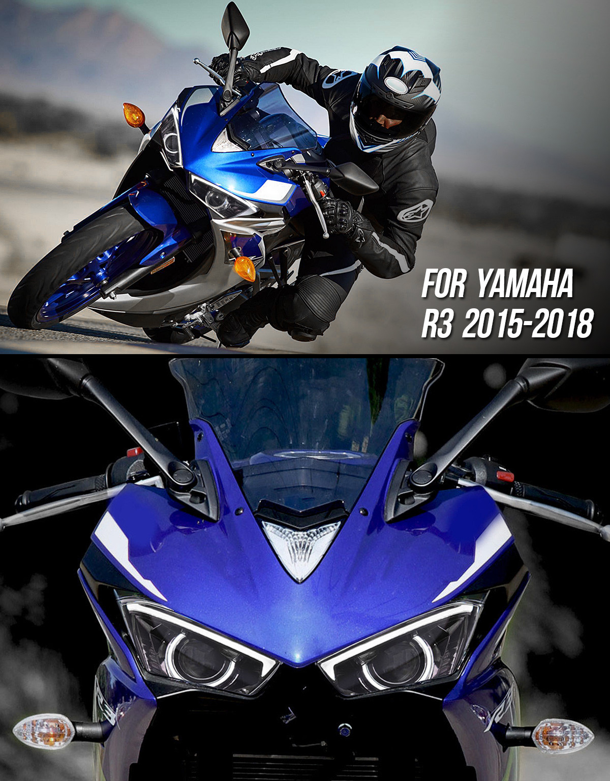 LED Yamaha R3 2015-2018