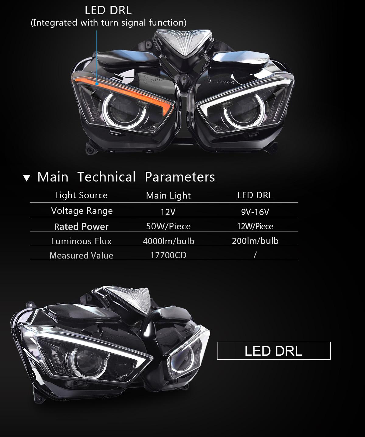 LED Headlight for Yamaha R25 2015 2016 2017 2018